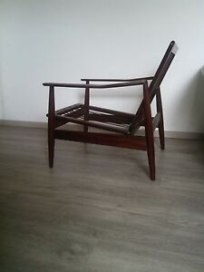 Arne Vodder style ,Vintage Danish Teak Lounge Chair