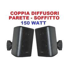 COPPIA DIFFUSORI DA PARETE CON STAFFE 150W COPPIA BLACK EDITION ART 100015
