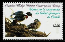 Canada #FWH6(1) 1990 $7.50 CANADIAN WILDLIFE HABITAT CONSERVATION Used CV$15.00