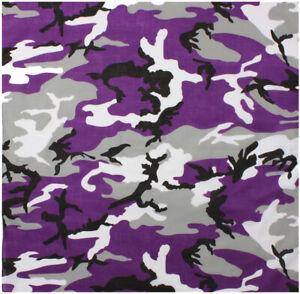 "Camo Bandana Cotton Sport Biker Head Face Wrap Camouflage Tactical Bandanna 22"""