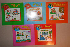 Lot of 5 Children's Picture Books Who What Where Why How