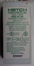 HATCH TRANSFORMER MODEL #HR-1800 ELECTRONIC FLOURESCENT LAMP BALLAST REPLACEMENT