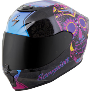 2021 Scorpion EXO-R420 Sugarskull Full Face Motorcycle Street Helmet