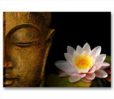 Buddha zen 3 QUADRO SU TELA 70x50 cm ARREDO BAGNO CENTRO ESTETICO FIORE LOTO ZEN