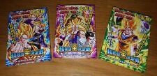 DRAGONBALL Z lot de 3 booster en carton card game heroes - Battle of Gods rare