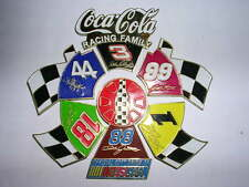 BIG PIN'S PUZZLE DE 6 COCA COLA / OFFICIEL SOFT DRINK OF NASCAR / SUPERBE / RARE