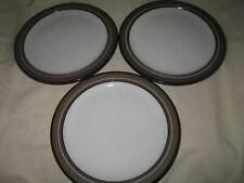 "New listing 3 Arita Genesis Brown 10 3/8"" Dinner Plates 5243 Stoneware Made in Japan"
