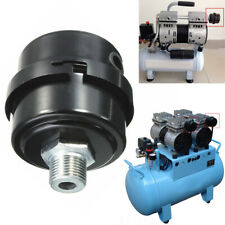 16mm Thread Metal Air Compressor Intake Filter Noise Muffler Silencer Black