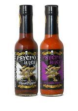 Dr Burnorium Set de 2 Psycho jus 70% Scorpion & Extreme Ghost Pepper Hot Sauce