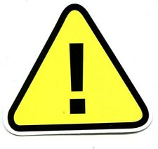PANNEAU Attention point exclamation ! sticker 6.5 x 7.5 cm
