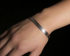 Sterling Silver Wide Herringbone Design Bracelet Modern Stylish Piece Stamped925