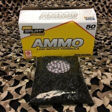 New Jt Splatmaster 2000ct Low Impact Paintball Ammo - 50 Cal - Yellow Fill