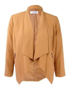 Kasper Women's Plus Size Open-Front Flyaway Jacket (16W, Copper)