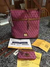 NWT Dooney And Bourke Crossbody And Coin Purse. Orchid. H264B OD