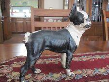 Antique Hubley Boston Terrier Cast Iron Doorstop