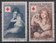 1954 FRANCIA UNIFICATO E YVERT N.1006/1007 VALORI USATO