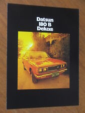 1976 Datsun 180B Deluxe and GL original Australian foldout brochure