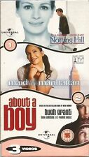 NOTTING HILL/MAID IN MANHATTAN/ABOUT A BOY ~ 3 VIDEO BOXSET ~ PAL REGION VHS 99p