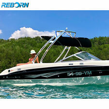 Reborn Launch Forward-facing Wakeboard Tower Polished + Pro Tower Bimini Package