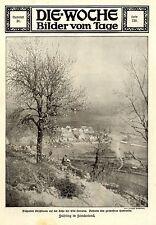Kriegs-Pfingsten Blühender Kirschbaum an der Côte Lorraine & Hattonville c.1915