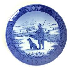 Royal Copenhagen Porcelain Christmas Plate 1977 Immervad Bridge By Kai Lange