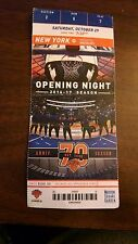 New York Knicks vs Memphis Grizzlies Used Ticket Stub Opening Night 10/29/16