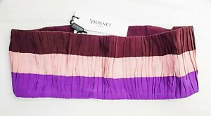 VIONNET gorgeous 100% silk wide waist belt size 42 NEW with tags Made in Italy