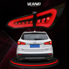 Replacement Led Tail Lights For Hyundai Santa Fe 2013-2015 Smoked Lens Tail Lamp