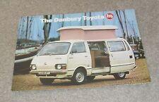 Toyota Hiace Danbury Motorhome Brochure 1979