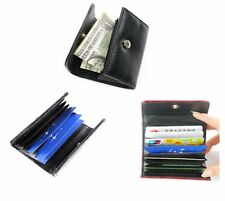 PULeather Business ID Credit Unisex Women Men Card Holder Case Wallet Bag UK