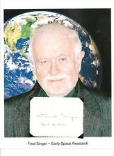 Dr S Fred Singer Autograph Space Atmospheric Physicist Professor MOUSE UV #1