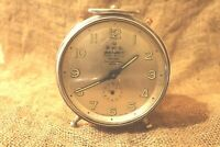Vintage Alarm Clock Wehrle 3 in 1 Rare Excellent Condition Gray Dial Germany #67