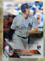 2016 Topps Chrome Greg Bird RC NY Yankees Rookie