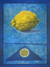 Rhanavardkar Madjid Zitrone handsigniert Poster Kunstdruck Bild 80x60cm