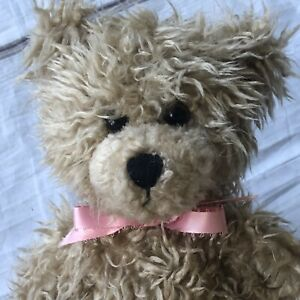 First Main Brown Scraggles Teddy Bear Plush Sitting Classic Stuffed Animal 1114