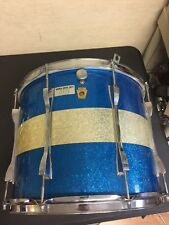 "Vintage Ludwig 60s 15""x12"" Tom Drum Blue/silver sparkle Keystone Marching Tenor"