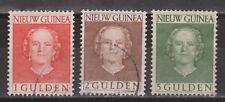 Indonesia Nederlands Nieuw Guinea New Guinea  19-21 used Juliana 1950-1952
