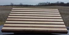 Amish Hand Crafted Wallnut / Oak cutting board 24x16 Food Grade Finish