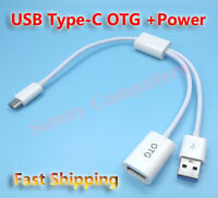 USB 3.1 Type-C OTG Adapter Cable Cord Lead w/ Power For Oppo Find X R17 Pro AU