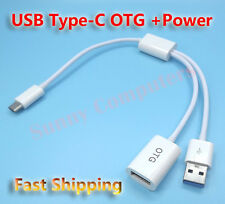 USB Type-C OTG Adapter Cable w/ Power For Samsung Galaxy S3 Tab SM-T825 T820 AU