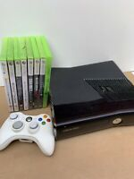 Xbox 360 Slim Gloss 250GB Console - Controller And Games