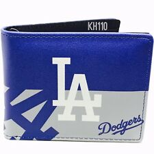 Synthetic Leather Graphic Logo Bi-fold Wallet - MLB Los Angeles La Dodgers
