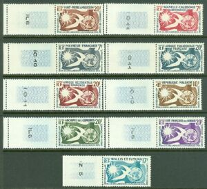 EDW1949SELL: Francese Colonie 1958 Human Rights Cplt Omnibus Set Di 9 Valore MNH