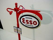 """Crafted 1-18 Scale Lit Esso Pole Sign 14"""" Tall Gas Station Diorama  L@@K"""