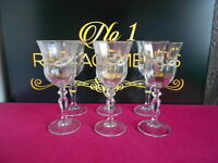 "6 x Johnson Brothers Eternal Beau Wine Glasses 6.75"" Last Set Available"