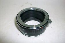 ADAPTER  LENS SONY NEX-PK, anillo metalico adaptador para objetivos.