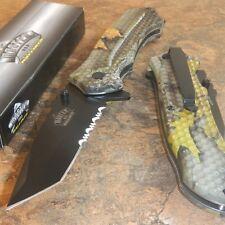 Master Hardwoods Camo Tanto Spring Assisted Opening Folding Hunting Pocket Knife