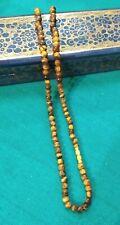 Handmade 5mm Tiger Eye Stone Healing Necklace Chakra Fashion Women Jewelry