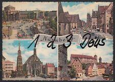 1061Q)  Ansichtskarte  AK   Nürnberg      4 Motive von  Nürnberg