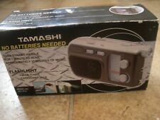 Tamashi Portable Radio No Batteries needed Dynamo handle FM/AM Radio/ flashlight